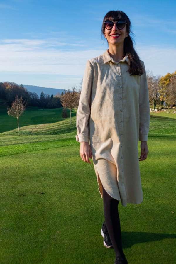 Robe-chemise-velvette-pretaporter-femme-vetement-createur-face-mouv