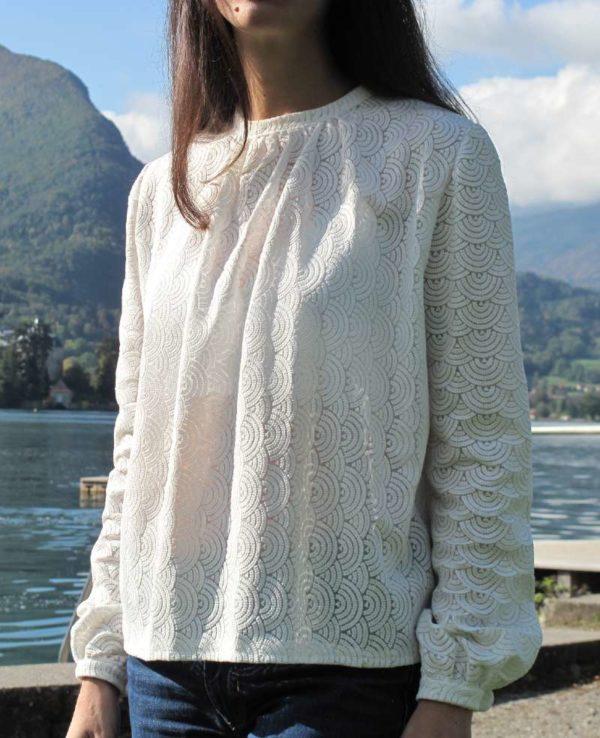 vetement couture femme blouse dentelle créateur annecy