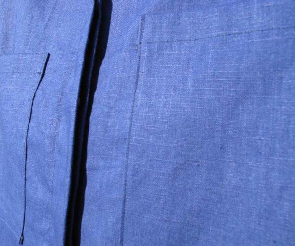 vêtement femme chemise couture lin bleu createur annecy