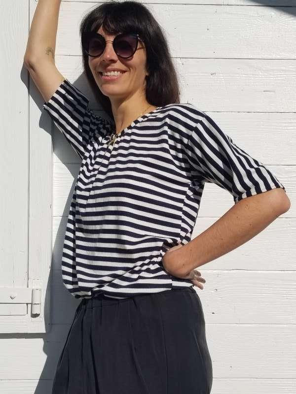 vêtement femme couture marinière teeshirt createur annecy
