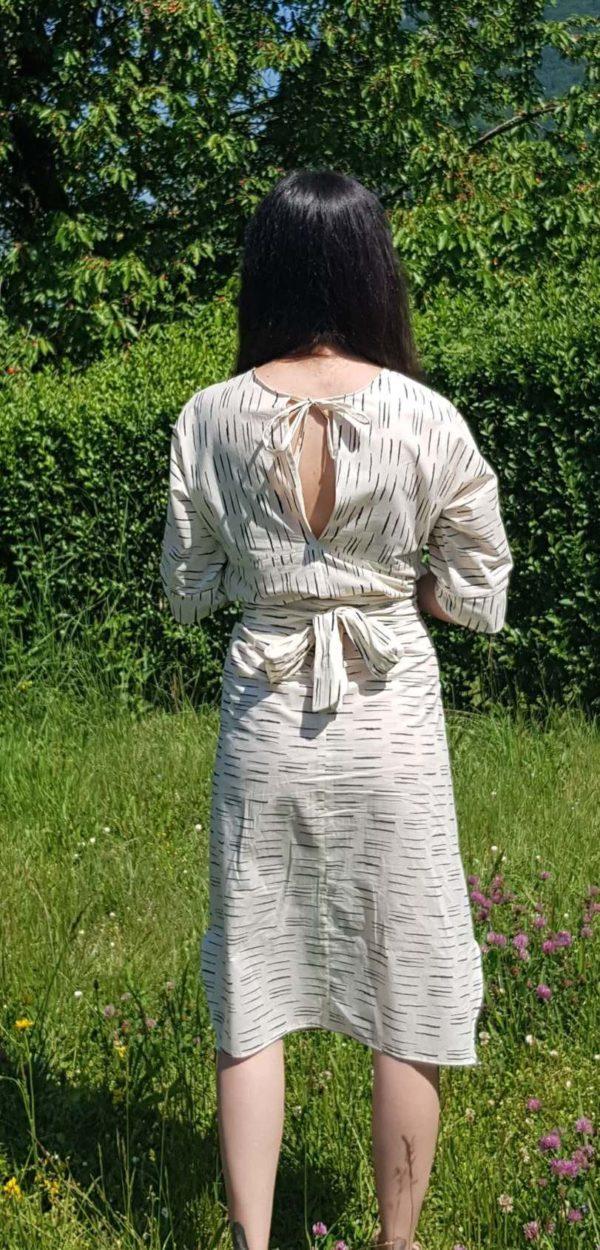 vêtement femme robe kim couture coton dos créateur annecy pret à porter