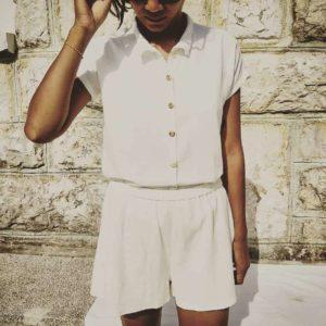vêtement-femme-short-victoire-chemise-alix-lin-taille-élastique