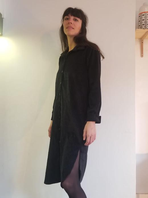 vetement-femme-robe-chemise-velvette-velours-face